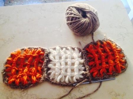 tessitura con telaio a chiodi