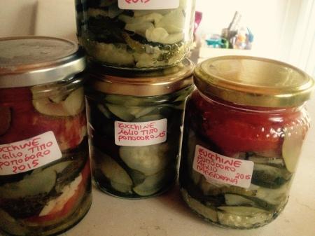 zucchine sotto olio, zucchine, come conservare le zucchine