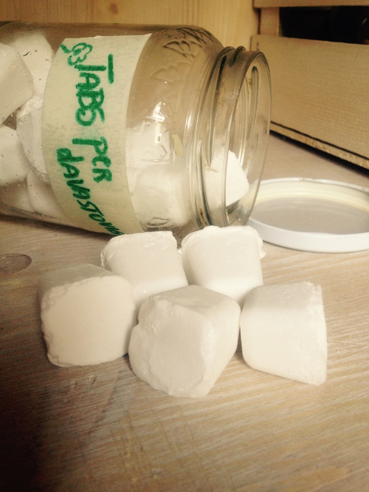 tabs lavastoviglie fai da te - verdevero - autoproduzione detersivi