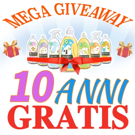 mega-giveaway - verdevero - detersivi ecologici gratis